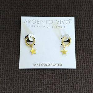 Argento Vivo Gold Star⭐ Huggie🤗 Earrings - NWT